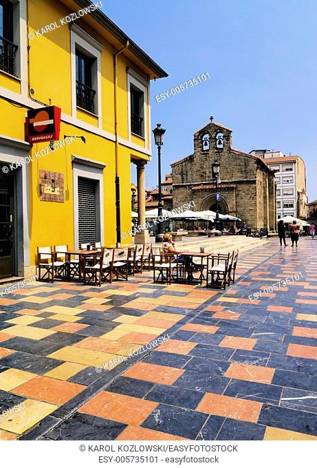 Plaza del Carbayo in Aviles, Asturias Region, Spain