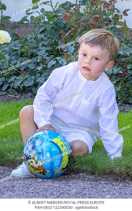 Prince Oscar of Sweden at Solliden Palace in Borgholm, on July 14, 2019, to attend the celebrations of Crown Princess Victoria her 42nd birthday