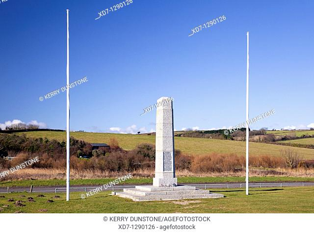 England Devon Slapton Sands and American Monument to forces involved in Normandy Landings during 1944