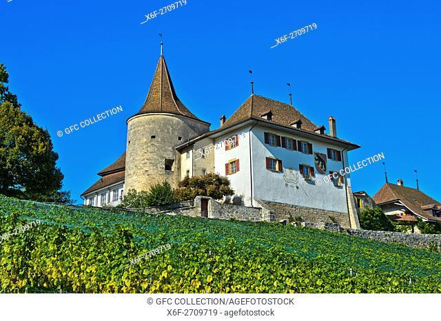 Erlach Castle, municipality of Erlach, Canton of Bern, Switzerland