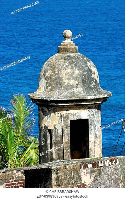 A turret in the Castillo de San Juan, in San Juan, Puerto Rico