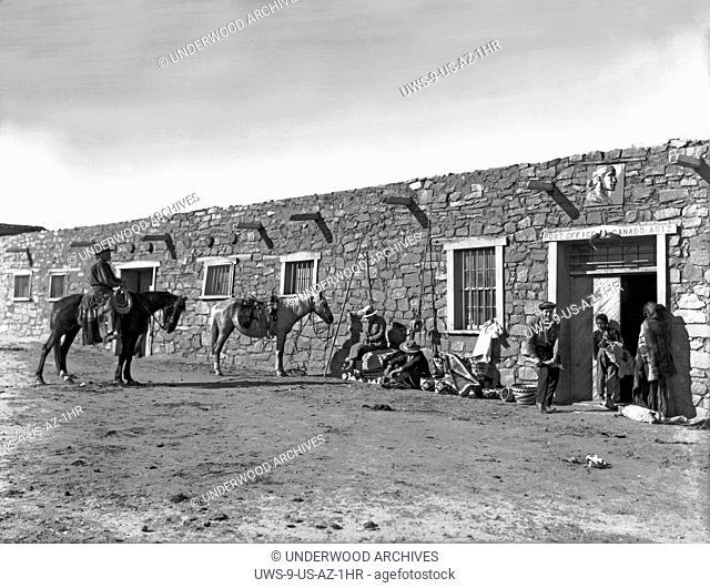 Ganado, Arizona: c. 1890.Locals outside the post office in Ganado, Arizona