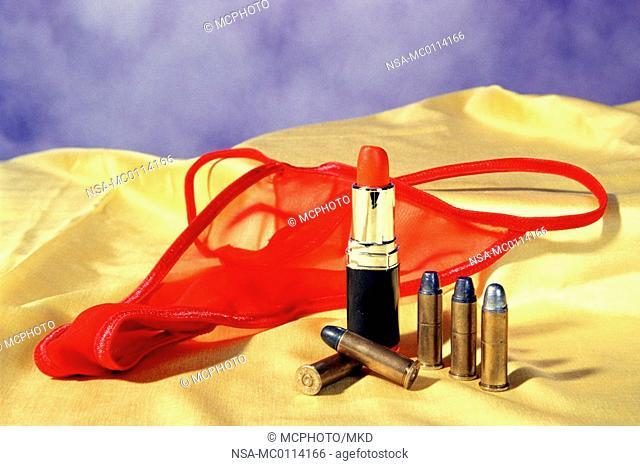 lipstick and underwear