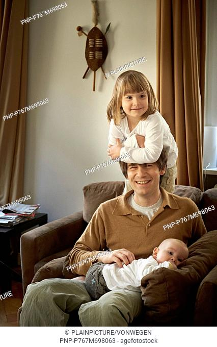 Father with his kids