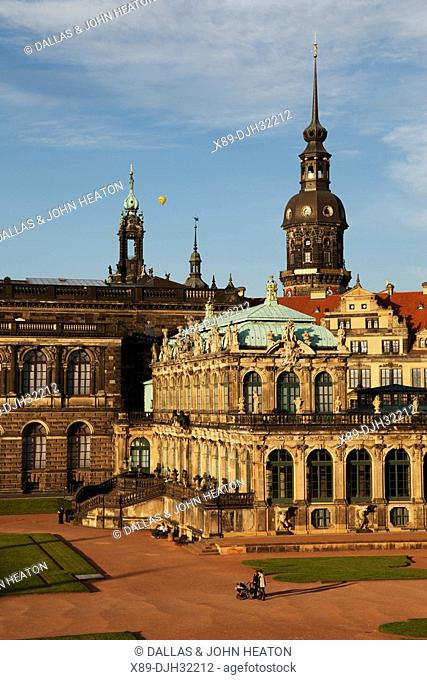 Germany, Saxony, Dresden, Zwinger Palace, Mathematisch-Physikalischer Salon, Mathematical-Physical Sciences Salon, Hausmann Tower
