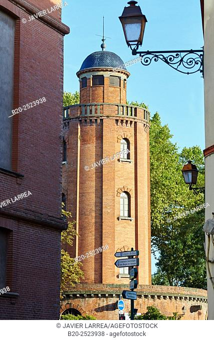 Chateau d'Eau former water tower (now photography gallery), Toulouse. Haute Garonne. France