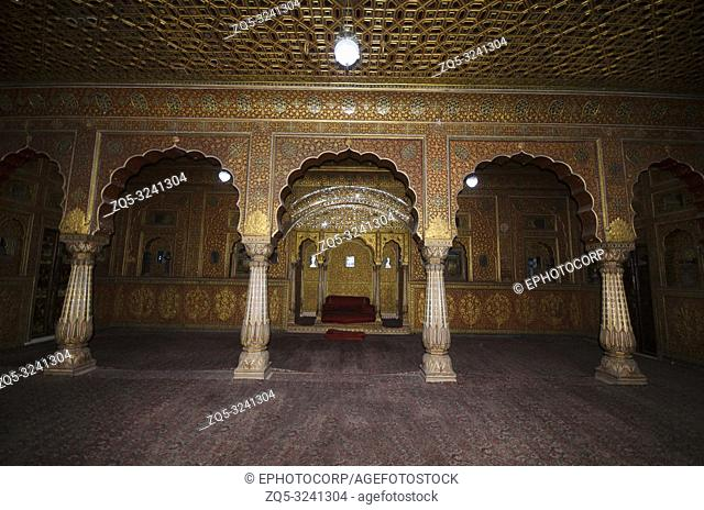 Private audience hall called as Anup Maha, Junagarh Fort, Bikaner, Rajasthan, India