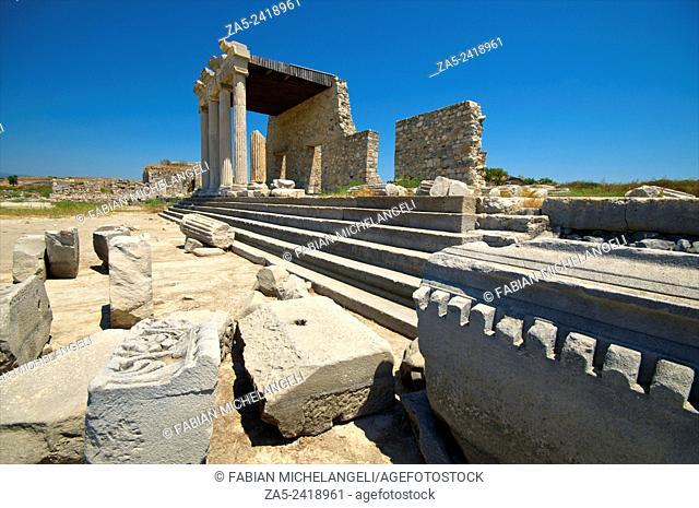 The Ionic Stoa. Miletos. Anatolia, Turkey