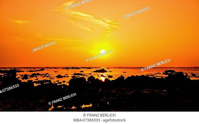 Myanmar, Ngapali Beach, sunset
