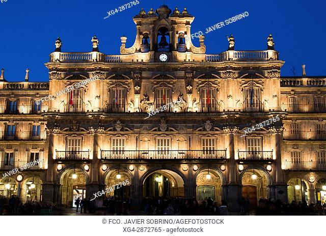 Plaza Mayor. Salamanca. Castilla-León. España. Europa