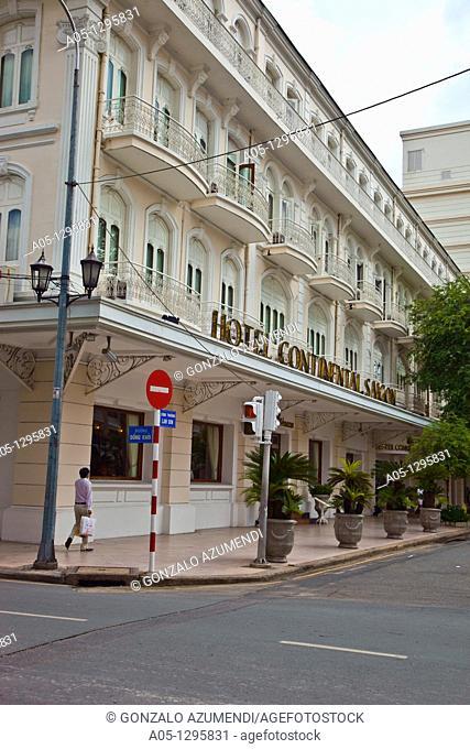 Continental Hotel. Ho Chi Minh City (formerly Saigon). South Vietnam