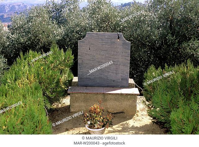 europa, italia, basilicata, aliano, tomba di carlo levi