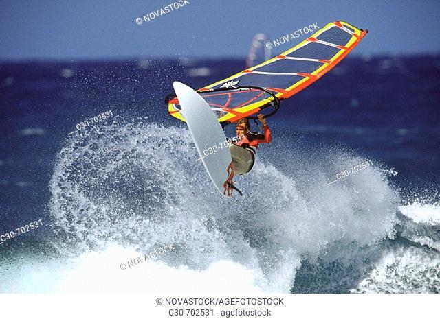 Windsurfing  Maui, Hookipa Beach, Hawaii, USA