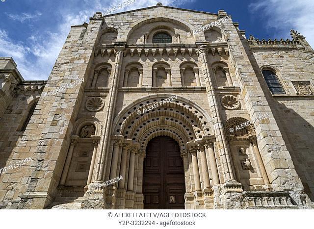 Puerto del Obispo (Bishop's Door) of Cathedral of Zamora, Castile and Leon, Spain