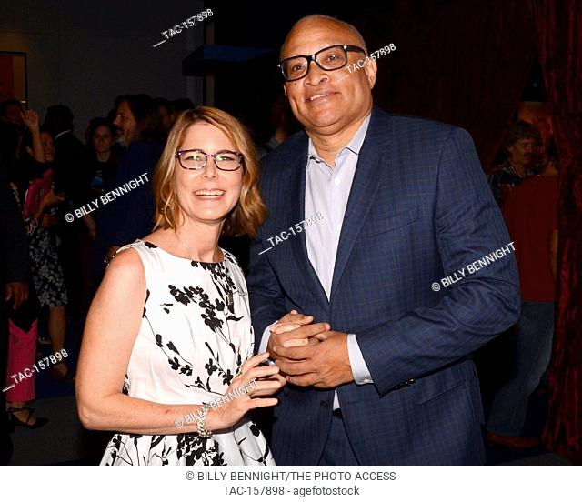 Jo Miller and Larry Wilmore attends WGAW's Sublime Primetime 2017 Panel Discussion with Emmy-nominated writers at Writers Guild Theater on September 15