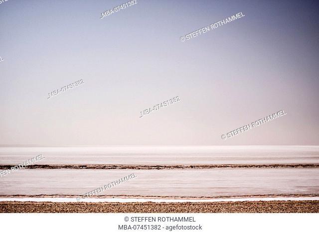 Chott el Jerid, salt lake in Tunisia