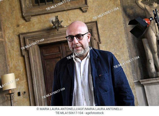 The director Paolo Virzi' Best screenplay award during the photocall Golden Globes Awards 2017, Rome, ITALY-14-06-2017
