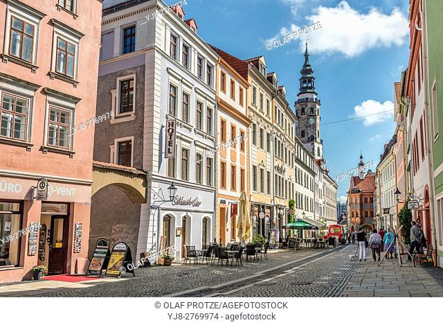 Old town at the Obermarkt in Goerlitz, Saxony, Germany