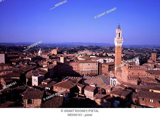View of Siena, Tuscany, Italy