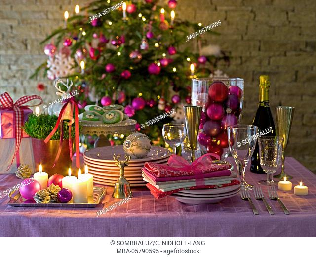 Christmas buffet with package