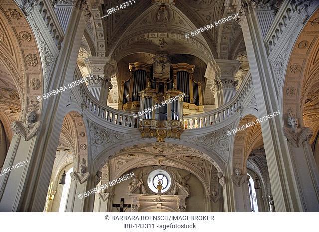 Interior, St. Andreas Church, Duesseldorf, North Rhine-Westphalia, Germany