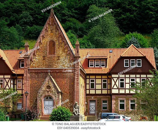 Stolberg village in Harz mountains of Germany