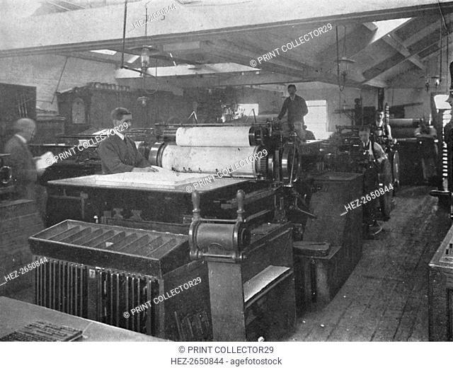 'Portion of Machine Room', 1916. Artist: Unknown