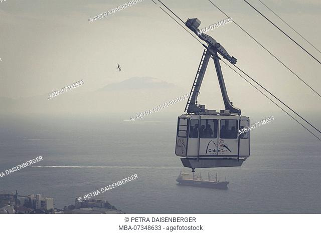 Gibraltar, cable car on the Rock
