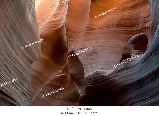 Beautifully swirled sandstone walls in Rattlesnake Canyon, Arizona, USA