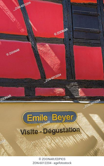 facade of emile beyer winery, eguisheim