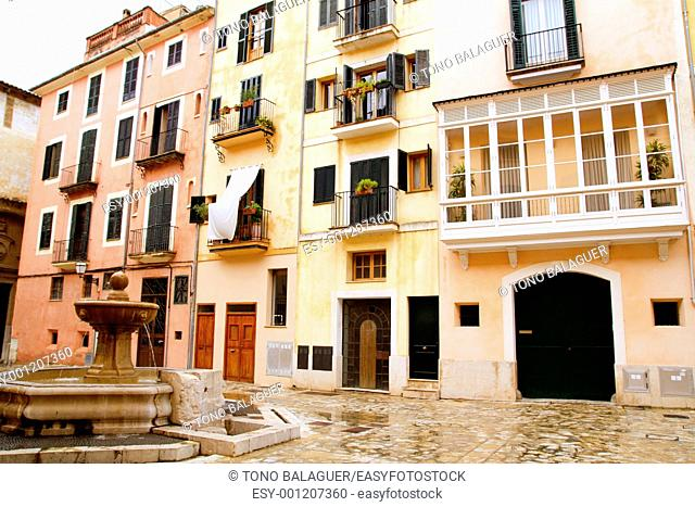 Plaza placa sant Jeroni Majorca in Palma de Mallorca barrio Calatrava Balearic spain
