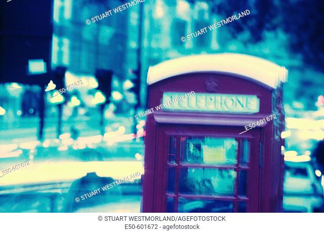 Phone box. London. England