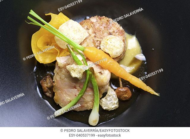 Trotters lamb with vegetables