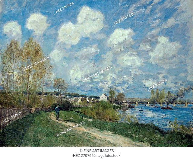 Été à Bougival (Summer at Bougival), 1876. Creator: Sisley, Alfred (1839-1899)