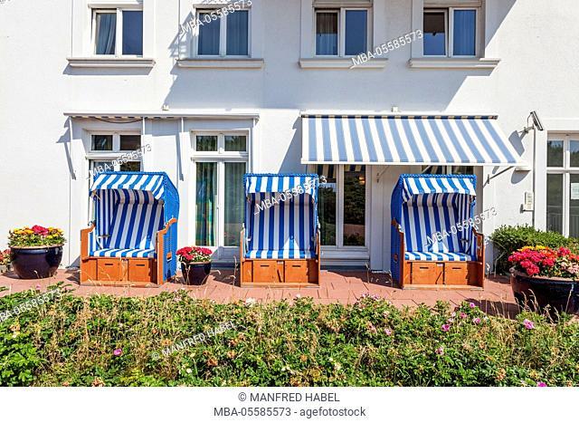 Beach hotel Kurhaus Juist, detail, island Juist, East Frisian island