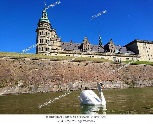 Kronborg Castle (location of the Shakespeare's tragedy Hamlet) in Elsinore, Denmark