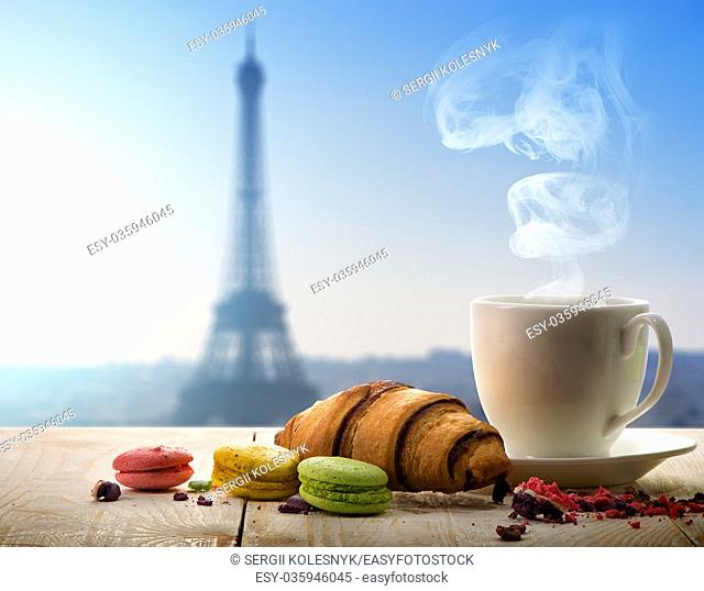 Breakfast in Paris with a view of the Eiffel Tower