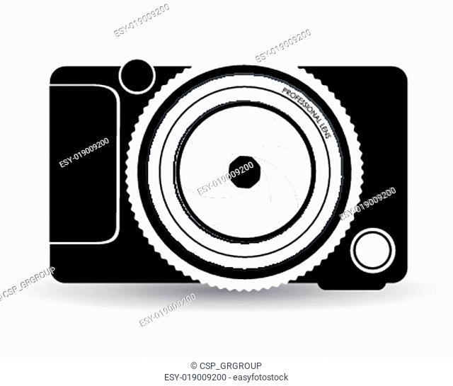 Camera design, vector illustration