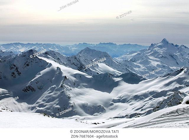 Elbrus. The Highest Mountain in Europe