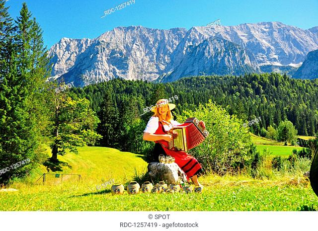 Woman with concertina