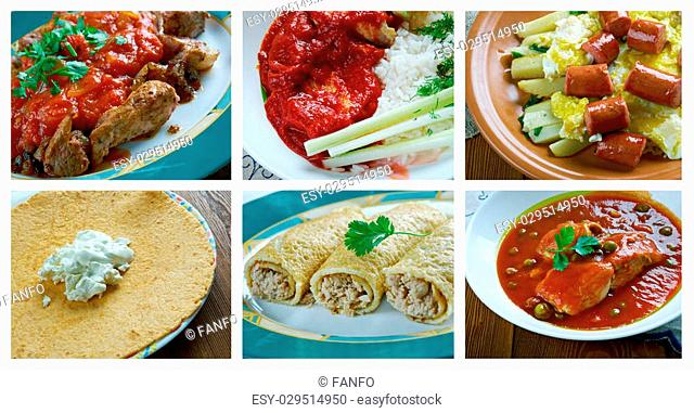 southern food set.mexican dish