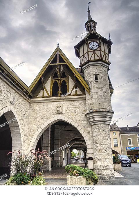 clock tower, Castillonnes, Lot-et-Garonne Department, Nouvelle-Aquitaine, France
