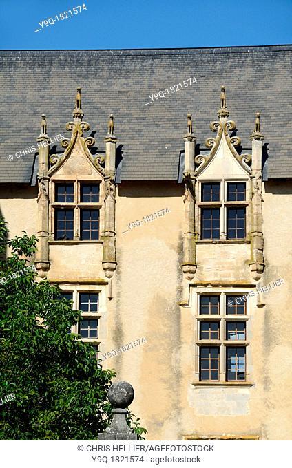 Medieval Windows Château Allemagne-en-Provence Alpes-de-Haute-Provence Provence France
