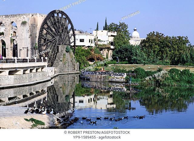 Water wheel at Hama, Syria