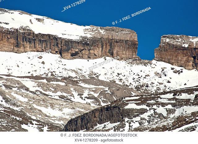 Famous Roldan Gap submmit  Ordesa y Monte Perdido National Park  Huesca  Aragon  Spain
