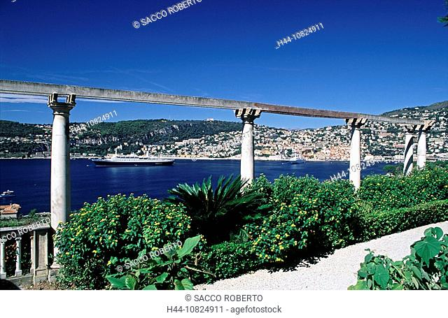 France, Europe, South of France, Cote d'Azur, Cap Ferrat, Villefranche sur mer, villa Ephrussi de Rothschild, garden