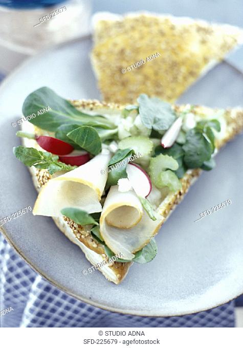 Puff pastry with fish and vegetables (2)