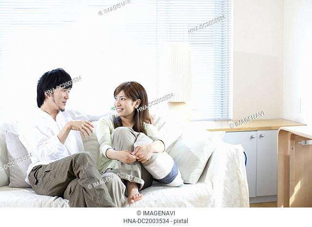 Couple Talking in Home