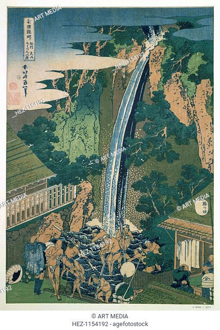 'Waterfall of Roben, Oyama', Japan, 1827. From the Victoria & Albert Museum, London