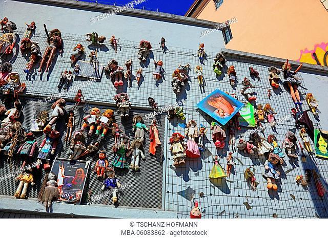 Italy, Milan (city), wall of Dolls
